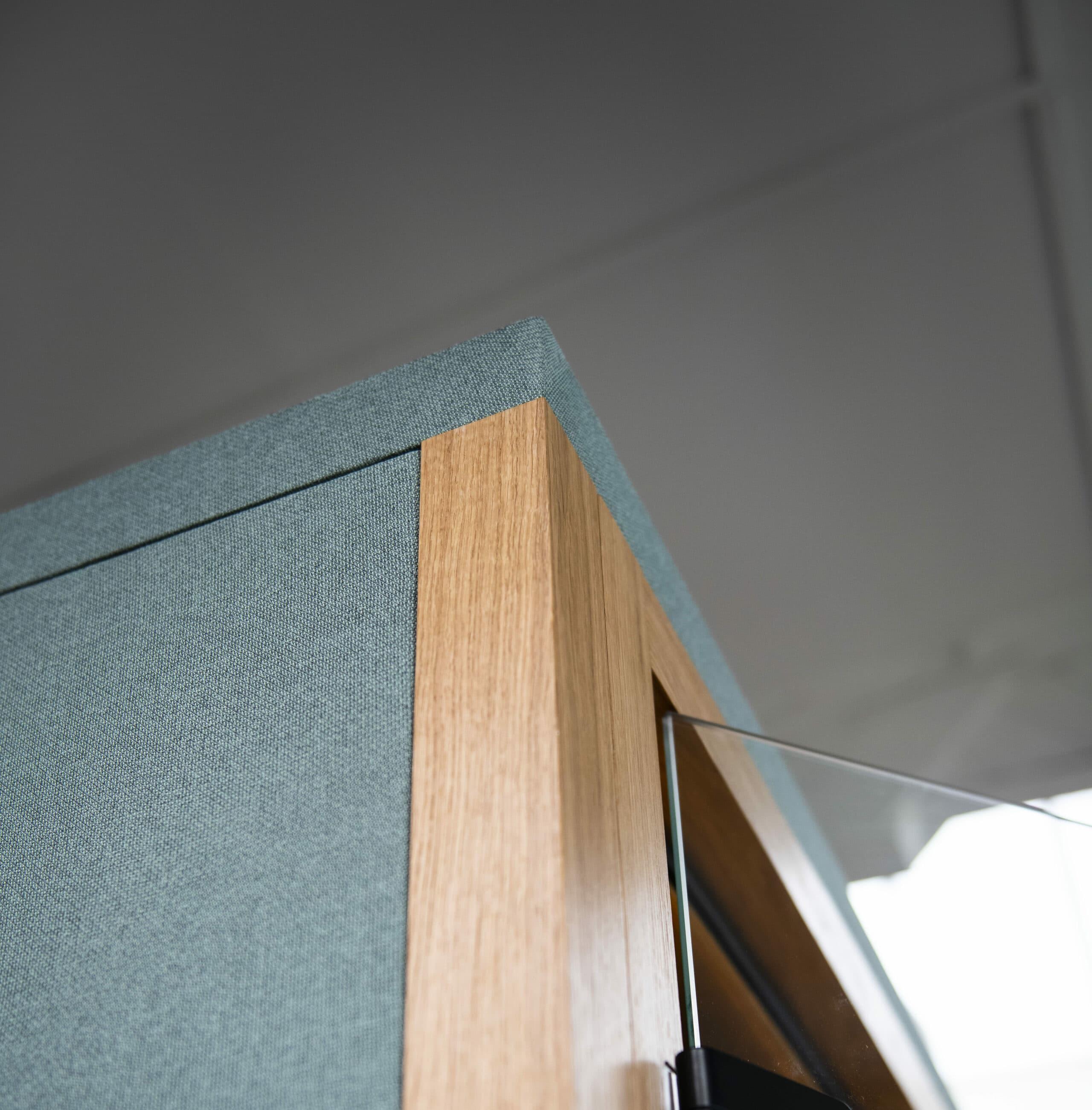 ege blue fabric door